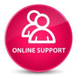 Online support (group icon) elegant pink round button Stock Photography
