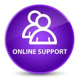 Online support (group icon) elegant purple round button Royalty Free Stock Photo