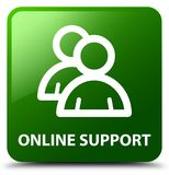 Online support (group icon) green square button Royalty Free Stock Photography