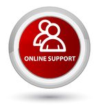 Online support (group icon) prime red round button Stock Photography