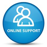 Online support (group icon) special cyan blue round button Stock Image