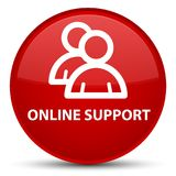 Online support (group icon) special red round button. Online support (group icon) isolated on special red round button abstract illustration Royalty Free Stock Photos