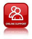 Online support (group icon) special red square button Royalty Free Stock Photo