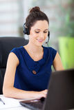 Online support operator Stock Image