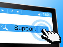 Online Support Represents World Wide Web And Knowledge Stock Images