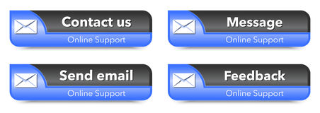 Online support web design elements Stock Images