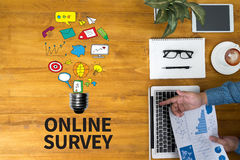 ONLINE SURVEY Royalty Free Stock Image