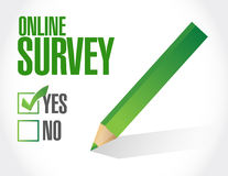 Online survey check list illustration design Royalty Free Stock Photography