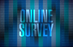 Online survey illustration design Stock Image