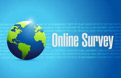 Online survey international sign illustration Royalty Free Stock Images