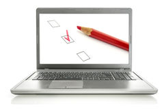 Online survey Stock Photos