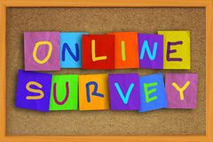 Online Survey, Motivational Business Internet Marketing Words Quotes Concept royalty free stock images
