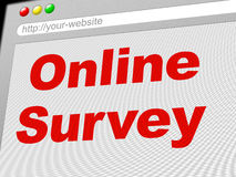 Online Survey Represents World Wide Web And Internet Royalty Free Stock Image