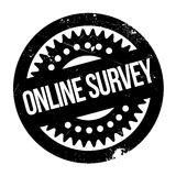 Online survey stamp Stock Photography