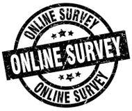 Online survey stamp Stock Photos