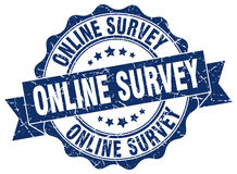 Online survey stamp Stock Photo