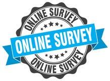 Online survey stamp Royalty Free Stock Photos