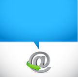 Online at symbol illustration design. Graphic background Royalty Free Stock Photos