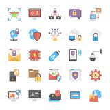 Online System Protection Flat Icons Design Stock Photo