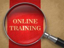 Online szkolenie szklany pojęcie. - Powiększający - Zdjęcie Royalty Free