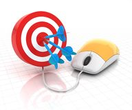 Online target Stock Photography