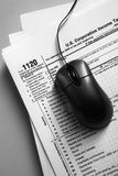Online tax from concept Stock Images