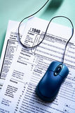 Online tax from concept Royalty Free Stock Photo