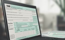 Online tax filing Stock Image