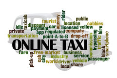 Online Taxi Stock Photo