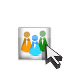 Online teamwork concept Royalty Free Stock Photo