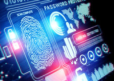 Online technologia zabezpieczeń Obrazy Stock