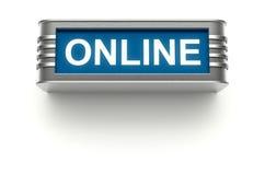 Online teken Stock Foto's