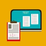 Online-Test-Vektorillustration Lizenzfreie Stockfotos
