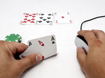 Online Texas Holdem Royalty Free Stock Image