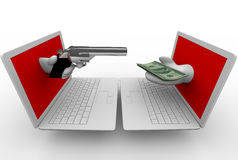 Online Theft - Computer Laptops Stock Photos