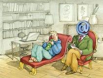 Online therapie Stock Afbeelding