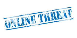 Online threat blue stamp Stock Photography