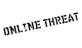 Online Threat rubber stamp Royalty Free Stock Photography