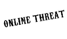 Online Threat rubber stamp Royalty Free Stock Photos