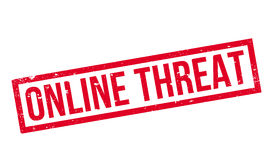Online Threat rubber stamp Stock Image