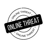 Online Threat rubber stamp Stock Images