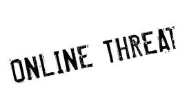 Online Threat rubber stamp Royalty Free Stock Image
