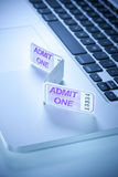 Online Ticket Computer Entertainment Stock Image
