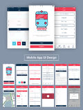 Online Tickets Booking Mobile UI design. Royalty Free Stock Image