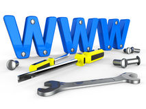 Online Tools Means World Wide Web And Apparatus Stock Photography