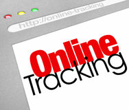 Online Tracking Website Online Internet Order Searching. Online Tracking words on a website, internet store or online delivery service to illustrate searching Royalty Free Stock Photography