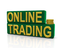 Online trading Stock Image