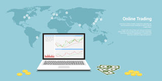 Online trading banner Stock Photos