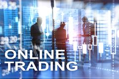 Online trading, FOREX, Investment concept on blurred business center background. royalty free stock images