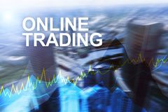 Online trading, Forex, Investment and financial market concept.  Royalty Free Stock Image